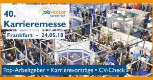 40. jobvector career day Frankfurt - Karrieremesse @ Gesellschaftshaus Palmengarten   Frankfurt am Main   Hessen   Deutschland