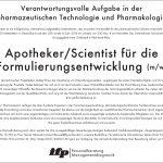 Apotheker Scientist, Industrie