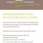 Schwan Apotheke, Heidelberg PJ