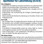 City-Apotheke, Laborleitung, Bad Hersfeld